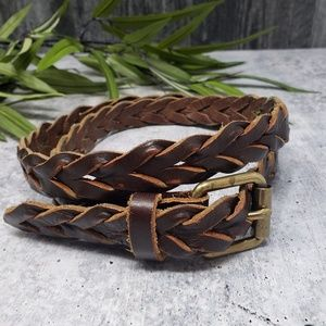 J. Crew | Leather Braided Belt